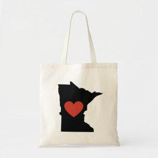 Minnesota State Love Book Bag or Travel Tote