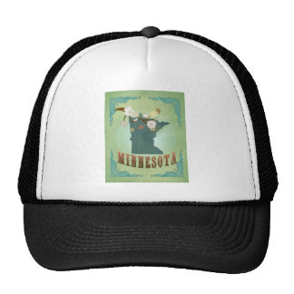 Minnesota State Map – Green Trucker Hat
