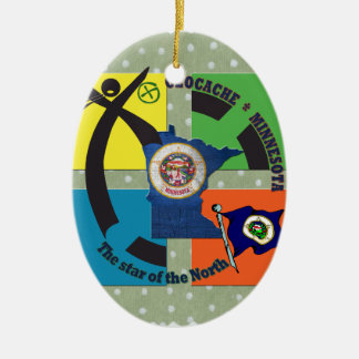 MINNESOTA STATE MOTTO GEOCACHER CERAMIC ORNAMENT