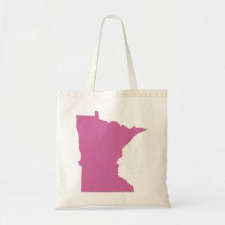 Minnesota State Outline Tote Bag