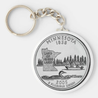 Minnesota State Quarter Keychain