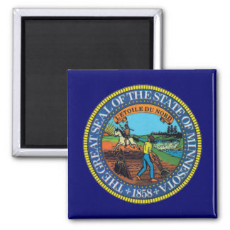 Minnesota State Seal 2 Inch Square Magnet