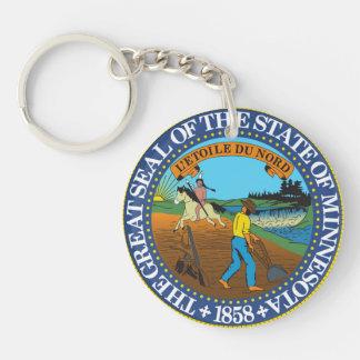 minnesota state seal america republic symbol flag keychain