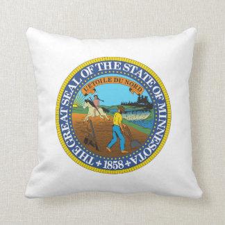 Minnesota state seal america republic symbol flag throw pillow