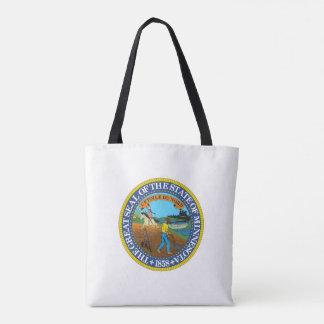 Minnesota state seal america republic symbol flag tote bag