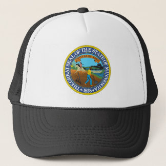 Minnesota state seal america republic symbol flag trucker hat