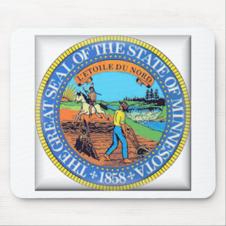 Minnesota State Seal Mouse Pads
