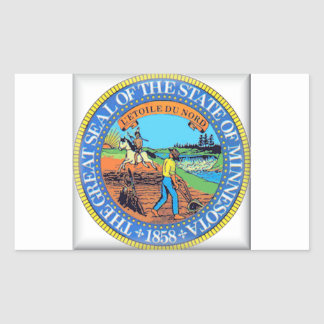 Minnesota State Seal Rectangular Sticker