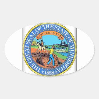 Minnesota State Seal Oval Sticker