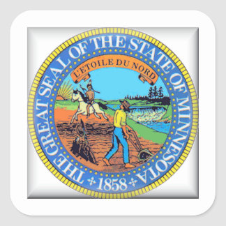 Minnesota State Seal Square Sticker