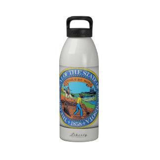 Minnesota State Seal Reusable Water Bottle