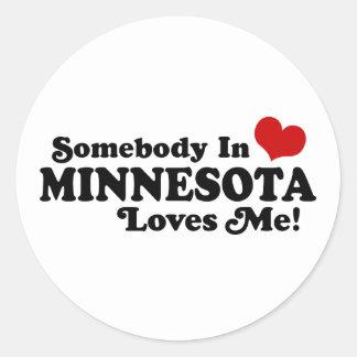 Minnesota Round Stickers