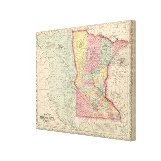 Minnesota Stretched Canvas Print