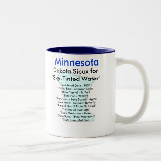 Minnesota Symbols & Map Coffee Mug