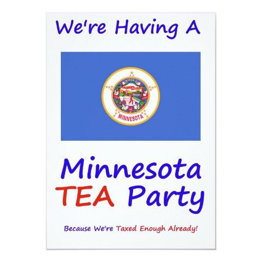 "Minnesota T.E.A. PARTY INVITATIONS Invitación 5"" X 7"""