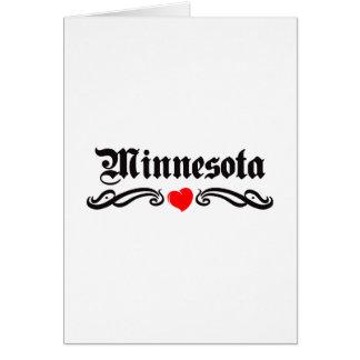 Minnesota Tattoo Greeting Card