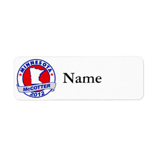 Minnesota Thad McCotter Return Address Labels