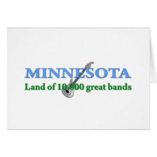 Minnesota - tierra de 10.000 bandas felicitacion