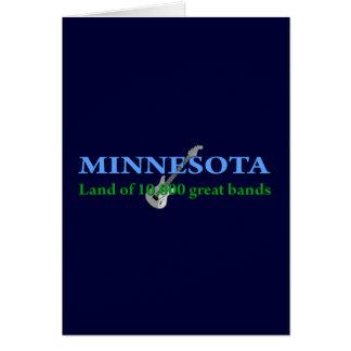 Minnesota - tierra de 10.000 bandas tarjeta de felicitación