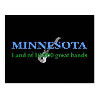 Minnesota - tierra de 10.000 bandas tarjeta postal