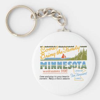Minnesota - tierra de los lagos ten Thousand Llavero Redondo Tipo Pin
