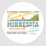 Minnesota - tierra de los lagos ten Thousand Pegatina Redonda