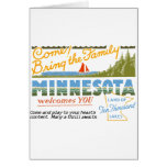 Minnesota - tierra de los lagos ten Thousand Tarjetón