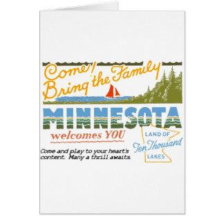 Minnesota - tierra de los lagos ten Thousand Tarjeta De Felicitación