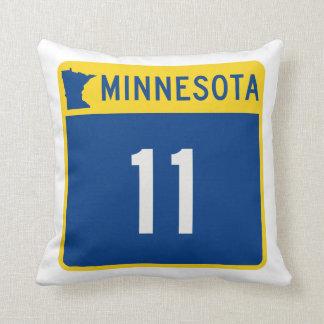 Minnesota Trunk Highway 11 Throw Pillow