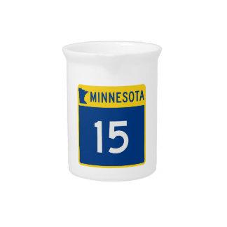Minnesota Trunk Highway 15 Beverage Pitcher