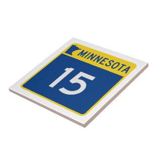 Minnesota Trunk Highway 15 Ceramic Tile