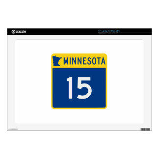 "Minnesota Trunk Highway 15 Decals For 17"" Laptops"