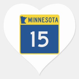 Minnesota Trunk Highway 15 Heart Sticker