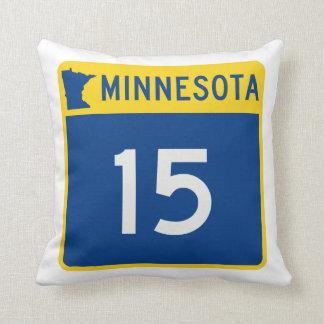 Minnesota Trunk Highway 15 Throw Pillow