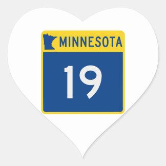 Minnesota Trunk Highway 19 Heart Sticker