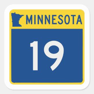 Minnesota Trunk Highway 19 Square Sticker