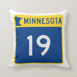 Minnesota Trunk Highway 19 Throw Pillow