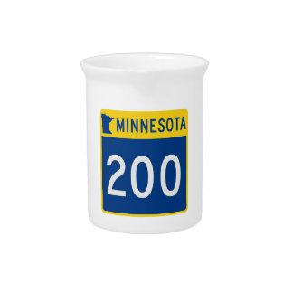Minnesota Trunk Highway 200 Beverage Pitcher
