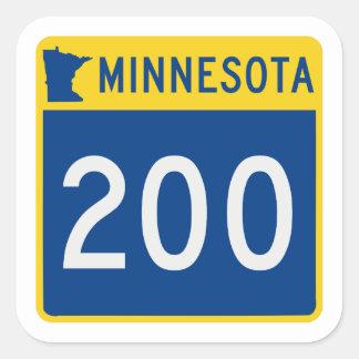 Minnesota Trunk Highway 200 Square Sticker