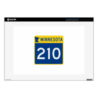 "Minnesota Trunk Highway 210 Decals For 15"" Laptops"