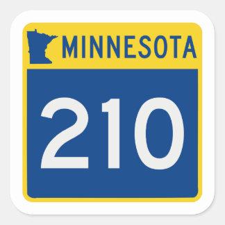 Minnesota Trunk Highway 210 Square Sticker
