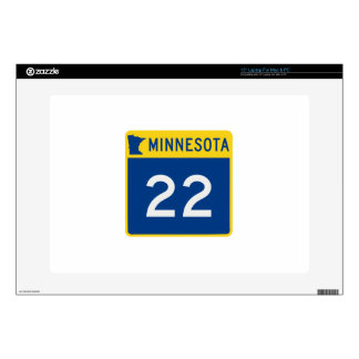 "Minnesota Trunk Highway 22 Decals For 15"" Laptops"
