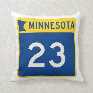 Minnesota Trunk Highway 23 Throw Pillow
