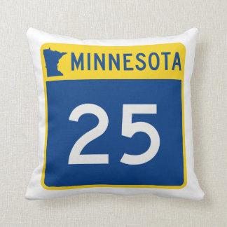 Minnesota Trunk Highway 25 Throw Pillow