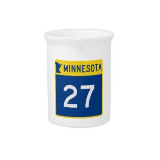 Minnesota Trunk Highway 27 Drink Pitcher