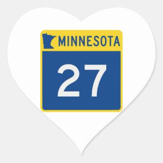 Minnesota Trunk Highway 27 Heart Sticker