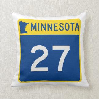 Minnesota Trunk Highway 27 Throw Pillow