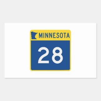 Minnesota Trunk Highway 28 Rectangular Sticker