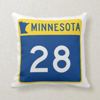 Minnesota Trunk Highway 28 Throw Pillow