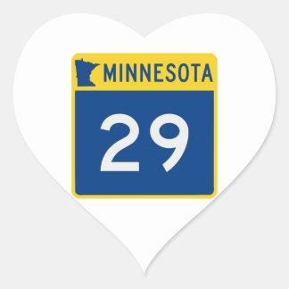 Minnesota Trunk Highway 29 Heart Sticker